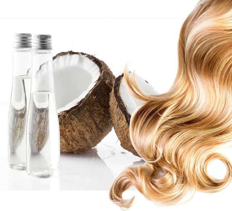 salud del cabello y aceite de coco